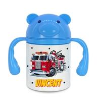Gourde pour bébé Camion de pompier personnalisée avec prénom