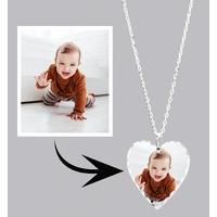 * Collier pendentif LUXE coeur personnalisé avec votre photo