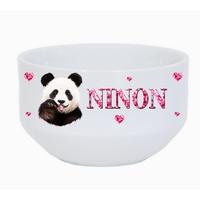 Bol à petit déjeuner panda personnalisé avec prénom au choix