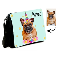 Sac à bandoulière personnalisé avec photo de votre chien ou chat el licorne