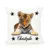 Coussin Bébé Tigre personnalisé avec prénom