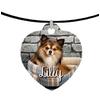 Collier pendentif coeur Chien chihuahua personnalisé avec prénom