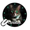 Tapis de souris rond chat chaton personnalisé avec prénom
