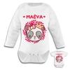 Body bébé Panda princesse personnalisé avec prénom au choix