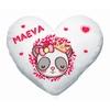 Coussin coeur Bébé Panda princesse personnalisé avec prénom
