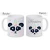 Mug (tasse) céramique Panda licorne personnalisé avec prénom