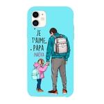 Coque 3D Iphone 11 Je t' aime papa personnalisée avec prénom