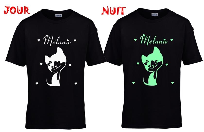Tee shirt enfant chaton personnalis/é avec votre pr/énom