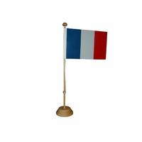 Drapeau France 10x15 sur socle
