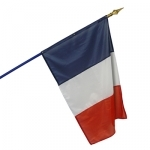 Drapeau français 80x120 cm sur hampe