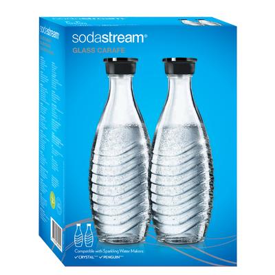 Lot de 2 bouteilles en verre Sodastream