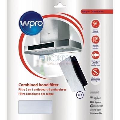 Filtre 2 en 1 universel anti-odeurs et anti-graisses Wpro - Hotte aspirante