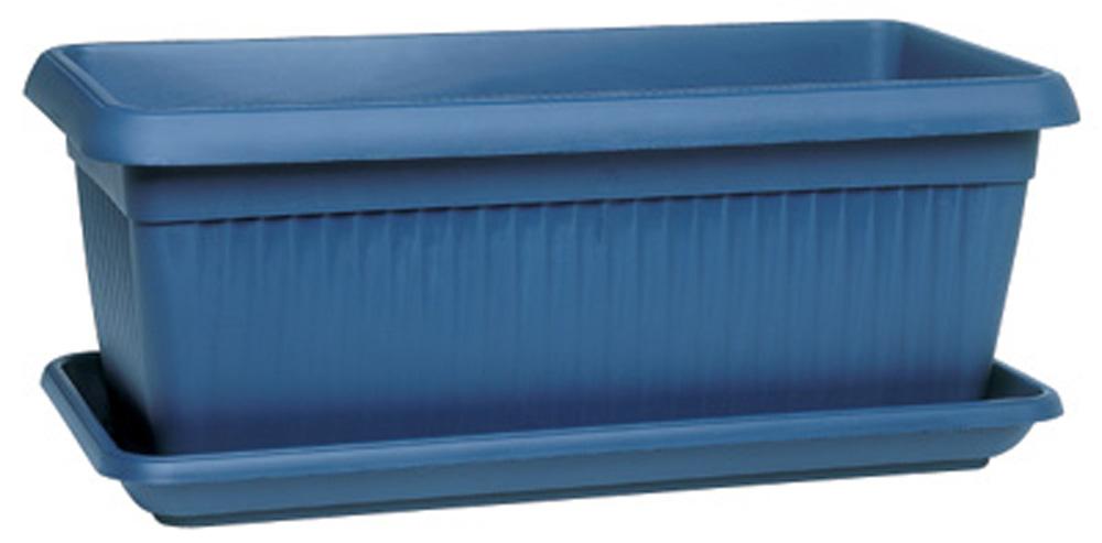 Jardini re soucoupe bleu poterie balconni res - Soucoupe jardiniere plastique ...