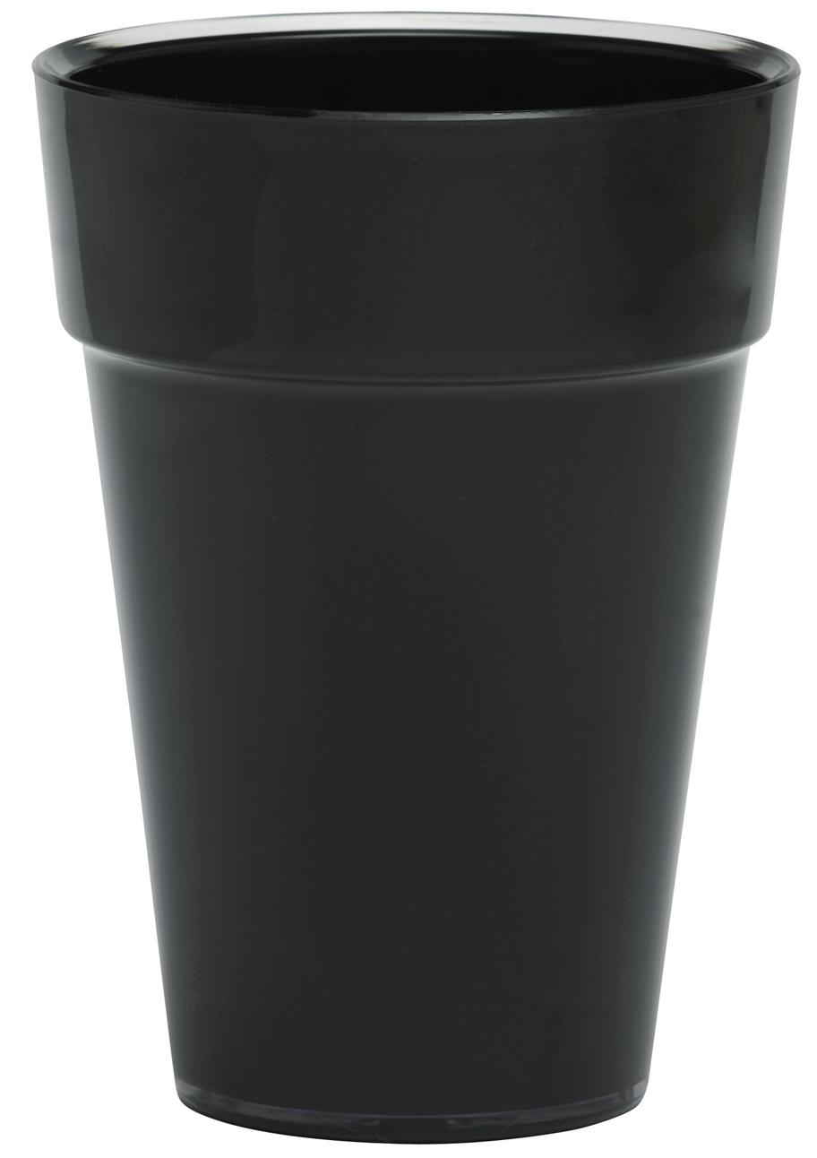 cache pot noir poterie cache pot plastique boutique d coration et am nagement jardin. Black Bedroom Furniture Sets. Home Design Ideas