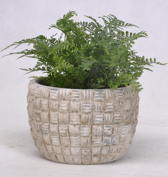 Cache pot design en ciment poterie pots et d corations for Cache pot interieur