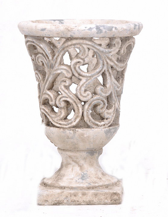 Vase medicis ciment poterie pots et d corations en for Table de jardin en ciment