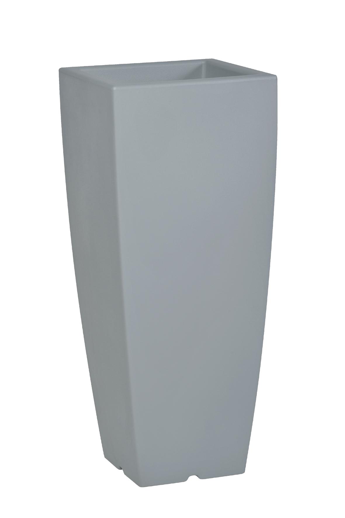 pot de fleurs design coloris gris poterie pots de. Black Bedroom Furniture Sets. Home Design Ideas