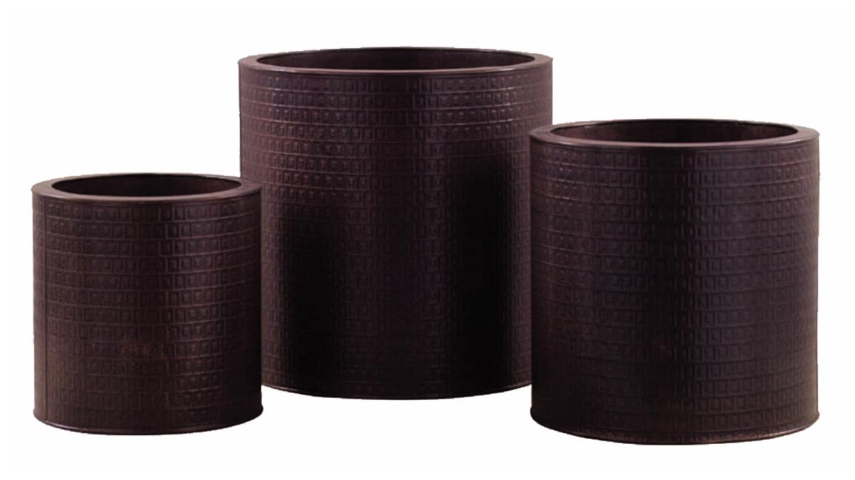cache pot en zinc coloris cuivre. Black Bedroom Furniture Sets. Home Design Ideas