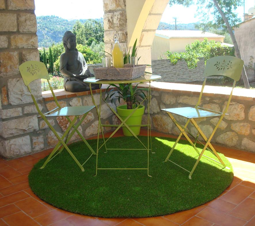 Gazon artifciel tapis diam tre 160cm jardin gazon for Exterieur vert targetti