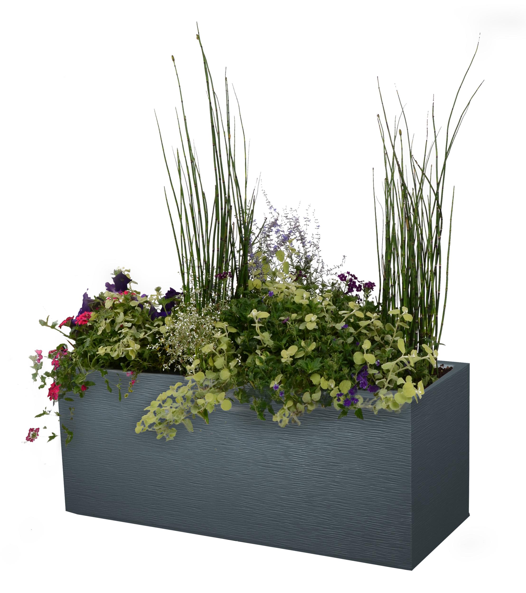 Jardiniere graphite anthracite poterie balconni res for Plantes en plastique exterieur