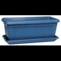 Jardinière + soucoupe - Bleu