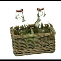 Set osier avec 2 bouteilles