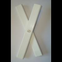 Treillis plastique blanc