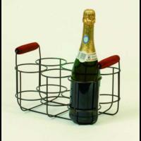 Porte bouteille métal - 6 cases
