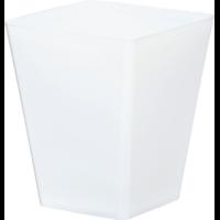 Cache pot carré réserve d'eau - Blanc
