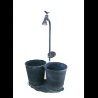 2 Pots ronds métal