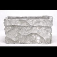 Cache pot jardinière en ciment - effet papier froissé