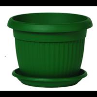 Pot de fleur + soucoupe - coloris vert