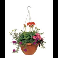 Suspension pour plantes - coloris terre cuite