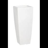 Pot de fleurs design - coloris blanc