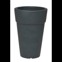 Pot rond haut plastique anthracite