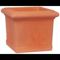 Pot carré imitation terre cuite