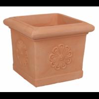 Pot carré imitation terre cuite avec frise