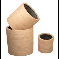 Pot rond en résine, Déco Rotin