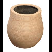 Pot rond en résine forme bombée