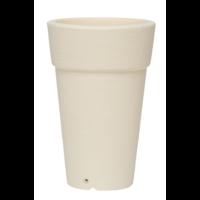 Pot  rond haut plastique beige