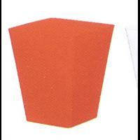 Cache pot carré réserve d'eau - Rouge