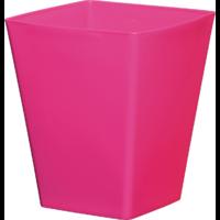Cache pot carré réserve d'eau - Fuschia