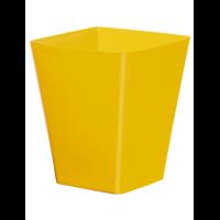 Cache pot carré réserve d'eau - Jaune