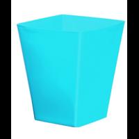 Cache pot carré réserve d'eau - Bleu