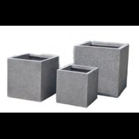Pot carré en fibre de pierre