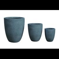 Pot rond en fibre de pierre