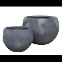 Vase rond en fibre de pierre