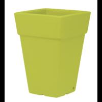 Pot carré haut plastique coloris vert pomme