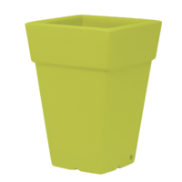 Pot carré haut - double paroi - coloris vert pomme