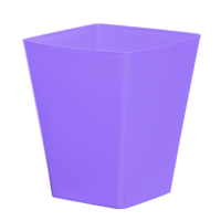 Cache pot carré réserve d'eau - Lilas